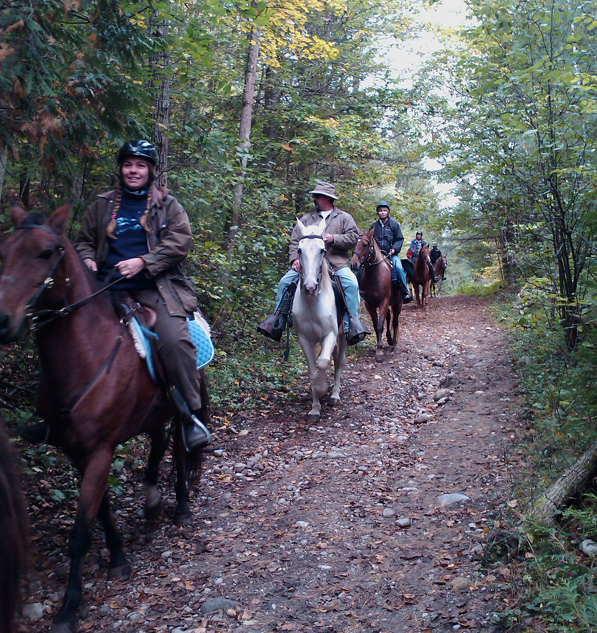 trail riding in Copeland forest