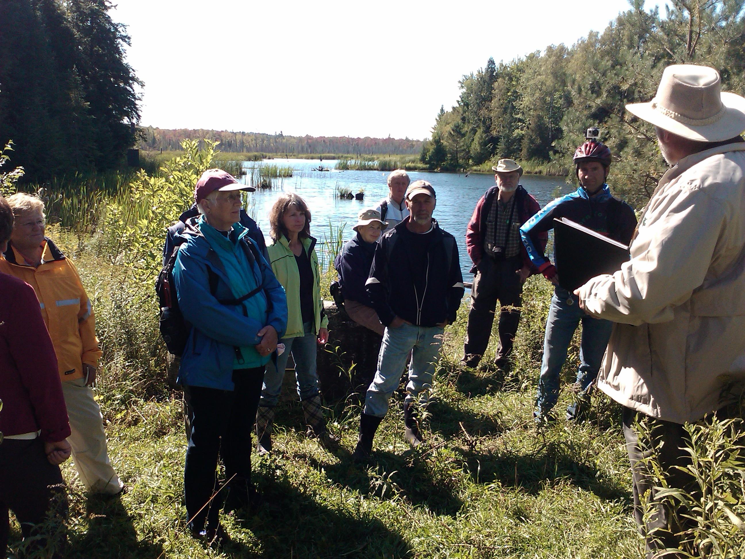 A wetland workshop at the DU Pond